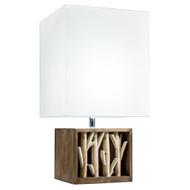 Modern Home Nautical Driftwood Wood Box Table Lamp - Medium