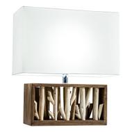 Modern Home Nautical Driftwood Wood Box Table Lamp - Large