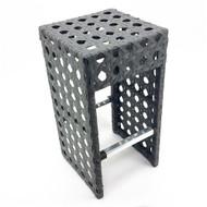 Set of 4 Avon Woven Wicker Outdoor Chair/Bar Stool - Ash Gray