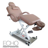 Echo Elite Professional Oversized Powerlift Electric Massage Table/Spa Facial Bed - Beige