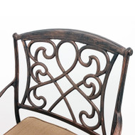 Set of 4 Wilshire Rotating Cast Aluminum Outdoor Chair/Bar Stool - Aged Copper