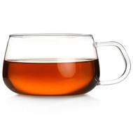 Teaology Farfalle Borosilicate Glass Tea/Coffee Cup - 6.75oz Glass - High Temperature Resistant Ultra-Clear Class Design