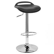 Set of 2 Beckham Contemporary Adjustable Barstool - Black