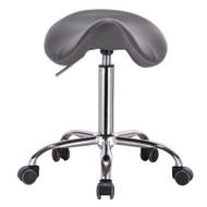 Mercury Adjustable Height Massage Stool w/Wheels