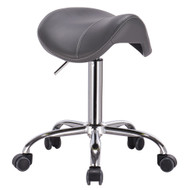 Mercury Adjustable Height Massage Stool w/Wheels