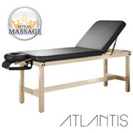 Atlantis Elite Professional Stationary Massage Table w/Bonuses - Charcoal Black