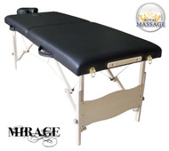 Mirage Elite Professional Oversized Portable Folding Massage Table w/Bonuses - Charcoal Black