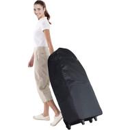 Royal Massage Deluxe Black Universal Folding Massage Chair Carry Case w/Wheels
