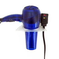 OnDisplay Wall/Mirror Mounted Hair Dryer Holster - Opaque