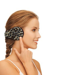 Bluetooth Wireless Headphone Fleece Earmuffs - Leopard