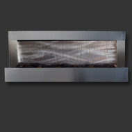 Modern Home Stainless Steel Wall Waterfall Fountain w/Brushed Steel Inset - Indoor/Outdoor W2