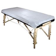 Royal Massage Set of 10 Universal Disposable Waterproof Flat Table Sheets - White