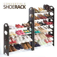 Convertible Shoe Rack Tower w/Zippered Cover (up to 30 pairs)