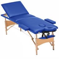 Luxor Elite Professional Oversized Portable Folding Massage Table w/Bonuses - Royal Blue