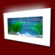 Aussie Aquariums Wall Mounted Aquarium - Skyline White