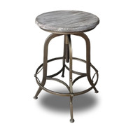 Set of 4 Chester Retro Steel Rotating Adjustable Height Barstool - Copper