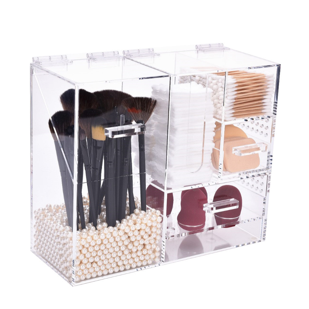 ondisplay trinity deluxe handmade acrylic cosmetic/makeup organizer