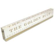 OnDisplay Acrylic Block Decorative Desktop Ruler - The Golden Rule