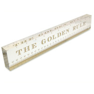 OnDisplay Acrylic Block Decorative Desktop Ruler - The Golden Rule