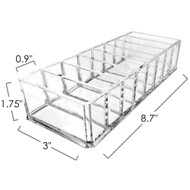 OnDisplay 8 Section Compact Cosmetic Organizer