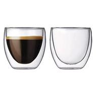 Teaology Coppia Double Wall Borosilicate Glass Tea/Coffee Cup - Set of 2 4oz Glasses