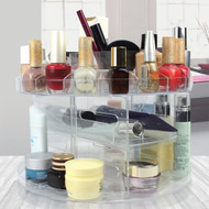 Modern Home Deluxe Rotating Clear Cosmetic/Makeup Organizer