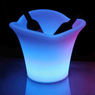 Modern Home LED Glowing Ice Bucket w/Infrared Remote Control