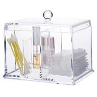 OnDisplay Acrylic Cotton Swab/Pad Cosmetics Organizer