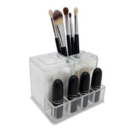 OnDisplay Zinnea Acrylic Cosmetics and Cotton Swab/Pad Organizer