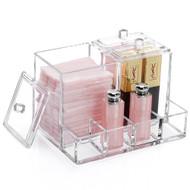 OnDisplay Zinnea Acrylic Cosmetics and Cotton Swab/Pad Organizer