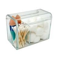 OnDisplay Acrylic Cosmetics and Cotton Ball/Swab Bathroom Organizer