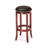 Set of 4 Manchester Contemporary Wood/Faux Leather Barstool - Brown