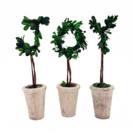 "Modern Home 13"" Real Preserved Boxwood Monogram Letters w/Terra Cotta Pot"