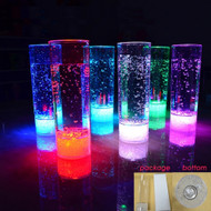 Set of 12 Modern Home LED Tall Cocktail Glass w/7 Colors Plus Fade
