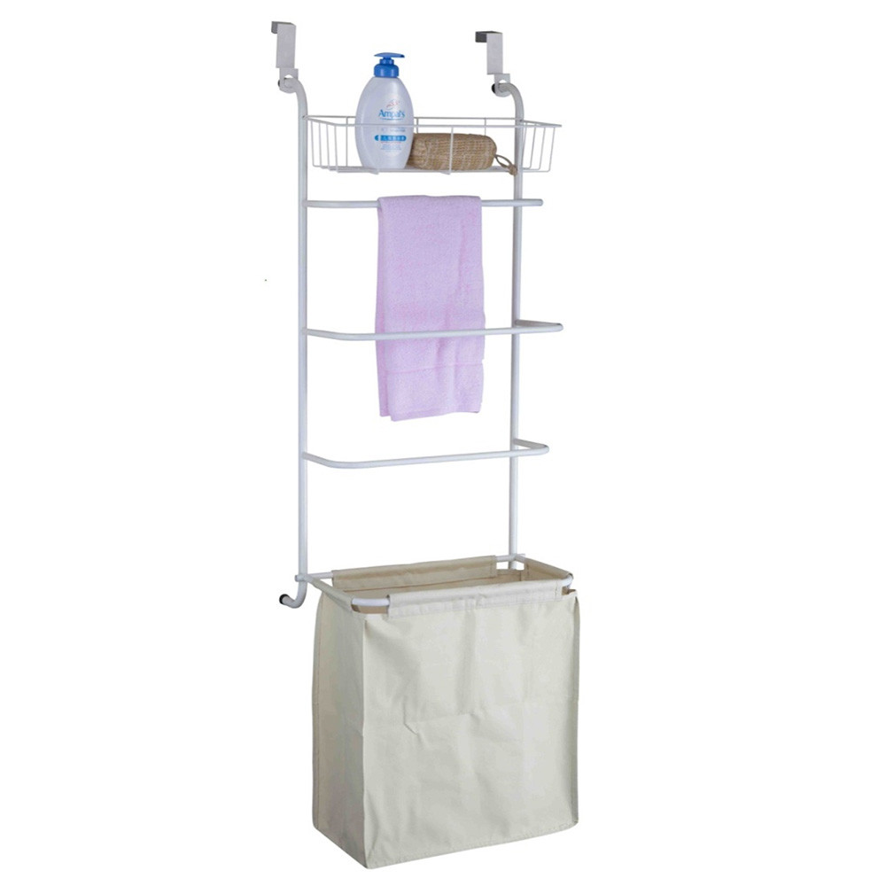 Ondisplay Over The Door Towel Rack And Laundry Hamper Vandue