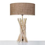 Modern Home Nautical Driftwood Table Lamp