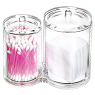 OnDisplay Acrylic Cotton Swab, Cotton Ball and Pad Organizer