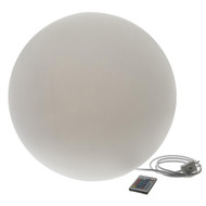 Modern Home Deluxe LED Glowing Sphere w/Infrared Remote Control - Direct Wired