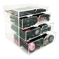 OnDisplay 4 Tier Manhattan Acrylic Cosmetic/Makeup Organizer