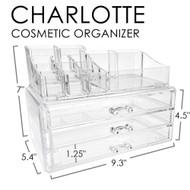 OnDisplay 3 Drawer Tiered Acrylic Cosmetic/Jewelry Organizer