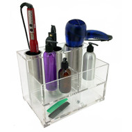 OnDisplay Deluxe Acrylic/Stainless Steel Hair Tool and Cosmetics Organization Station