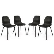 Set of 4 Nova Retro Modern Utility Side Guest Chairs