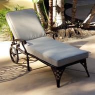 Modern Home Cardiff Cast Aluminum Chaise Lounge - Aged Copper