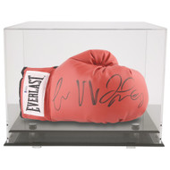OnDisplay Deluxe UV-Protected Boxing Glove Display Case - Black Base - Luxe Handmade Acrylic Case for Boxing Glove, Die-Cast Cars, Baseball Mitt and more