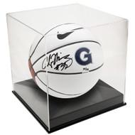 OnDisplay Deluxe UV-Protected Basketball/Soccer Ball Display Case - Black Base