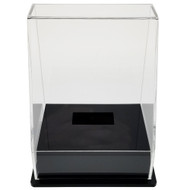 OnDisplay Deluxe UV-Protected Hockey Puck Display Case - Angle Black Base