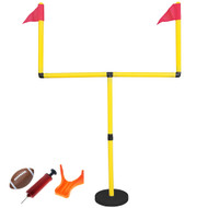 GoTEAM! Youth Football Goal Post Set with Uprights, Ball, Tee and Pump