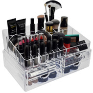OnDisplay 2 Tier 4 Drawer Deluxe Tiered Acrylic Cosmetic/Jewelry Organizer