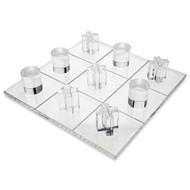 OnDisplay 3D Luxe Acrylic Tic Tac Toe Set - Luxury Executive Desktop Board Game (Clear)