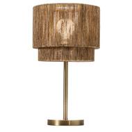Modern Home Soho Jute Golden Brass Table Lamp w/Natural Jute Rope Shade